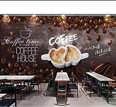 ورق جدران على الطراز الأوروبي خشبي يدوي الصنع حبوب القهوة مقهى خلفية حائط داخلية MRQXDP Papel de Parede