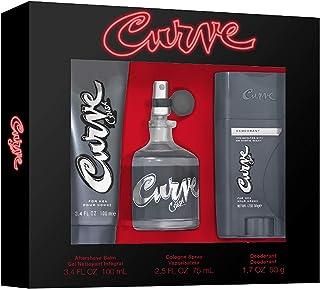 Liz Claiborne Curve Crush Men's Fragrance 3 Piece Gift Set, 2.5 Fl. Oz. Eau De Cologne, 3.4 Fl. Oz. Aftershave Balm and 1.7 Oz. Deodorant Stick, 3 Count