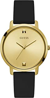 GUESS Womens Quartz Watch, Analog Display And Silicone Strap - GW0004L1