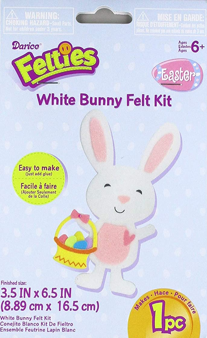 Darice Flt-2762 White Easter Bunny Felties Felt Activity Kit gdcvrjxi7