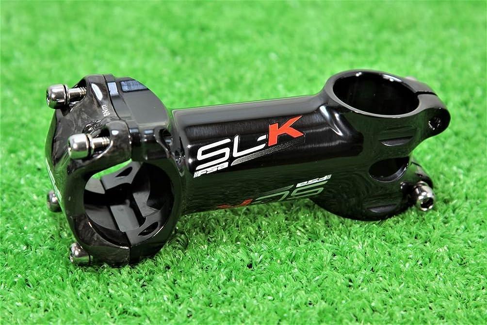 必需品変換する操縦するFSA(エフエスエー) SL-K ステム Φ31.8mm/90mm ±6° BLACK V15 赤ロゴ 軽量149g
