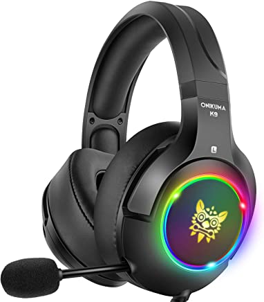 $29 Get DIZA100 Stereo Gaming Headset PS4 Headset with 7 Colors Breathing LED Light, Xbox One Headset with 7.1 Surround Sound, Noise Cancelling Mic for PS4, Xbox One, PC Games