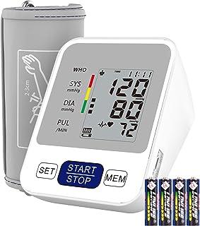 Annsky Tensiómetro de Brazo Digital, Automática de la Presión Arterial y pulso de frecuencia cardíaca detección,2 memorias de usuario (2 * 99),Batería incluida