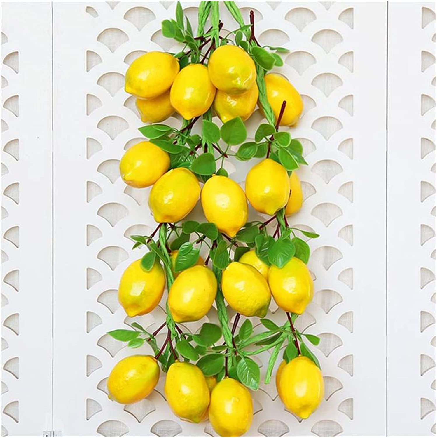 JSJJEDC Artificial Fruit 2 Max 74% OFF Bunches Ar Simulation of String Lemon Max 78% OFF