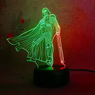 Amroe Star Wars Double Mix Color Darth Vader Dark Warrior 3D Night Light Children's Toys Christmas Decoration Night Lights Gifts