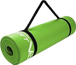 SportVida Yogamat, antislip, extra dik, yogamat met zacht schuim, NBR mat, dikke turnmat voor thuis, training met draagrie...