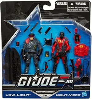 G.I. Joe 50th Anniversary Exclusive Action Figure 2-Pack Night Marksmen [Low-Light vs. Night-Viper]