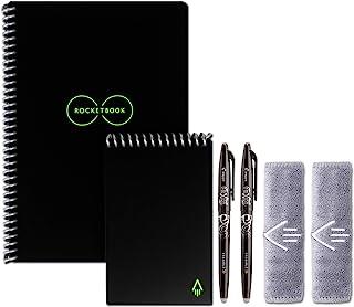 دفترچه راهنمای Rocketbook Everlast Executive و Mini Wirebound با 2 قلم Penxion Pilot و 2 پارچه میکروفیبر، Infinity Black (EVR EM K A)