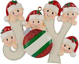 WorldWide Joy Family of 6 Personalized Ornaments
