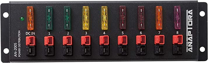 ANAPTROA AN-2005 9port 40A Connector Power Splitter Distributor Source 1 Input in 8 Output Compatible with Anderson Powerpole