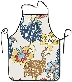 xiaolang Guinea Fowl Kitchen Aprons Adjustable Bib Apron 28.3x20.5inch