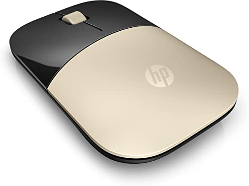 HP Z3700 - Souris Sans Fil Or (USB, 1200 DPI, Ambidextre)