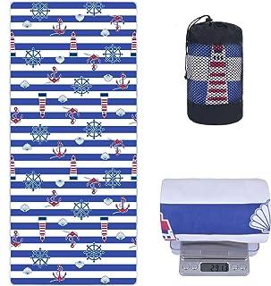 comprar comparacion VIVOTE 80X180CM Microfibra Toalla de Playa Ligero Camping Viajes Deportes Toalla Toalla Absorbente Suave para Piscina, Nat...
