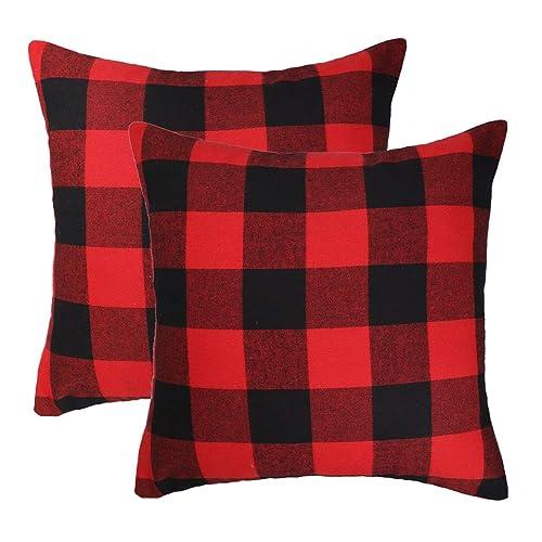 Plaid Christmas Pillows.Plaid Christmas Pillows Amazon Com