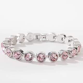 Touchstone Crystal by Swarovski Light Pink Rhodium Ice Bracelet