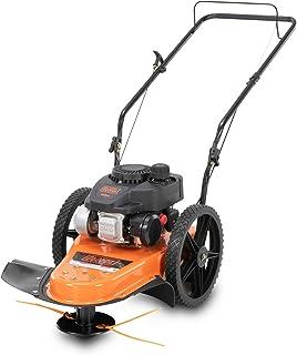 BLACK+DECKER 140 cc 4 ciclos a gas Walk-Detrás de ruedas altas, cortadora de 22.0in para el cuidado del césped, negro y naranja