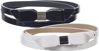Sunny Belt Girls 1/2? 宽款 2 条装人造革皮带,多种颜色和款式可选