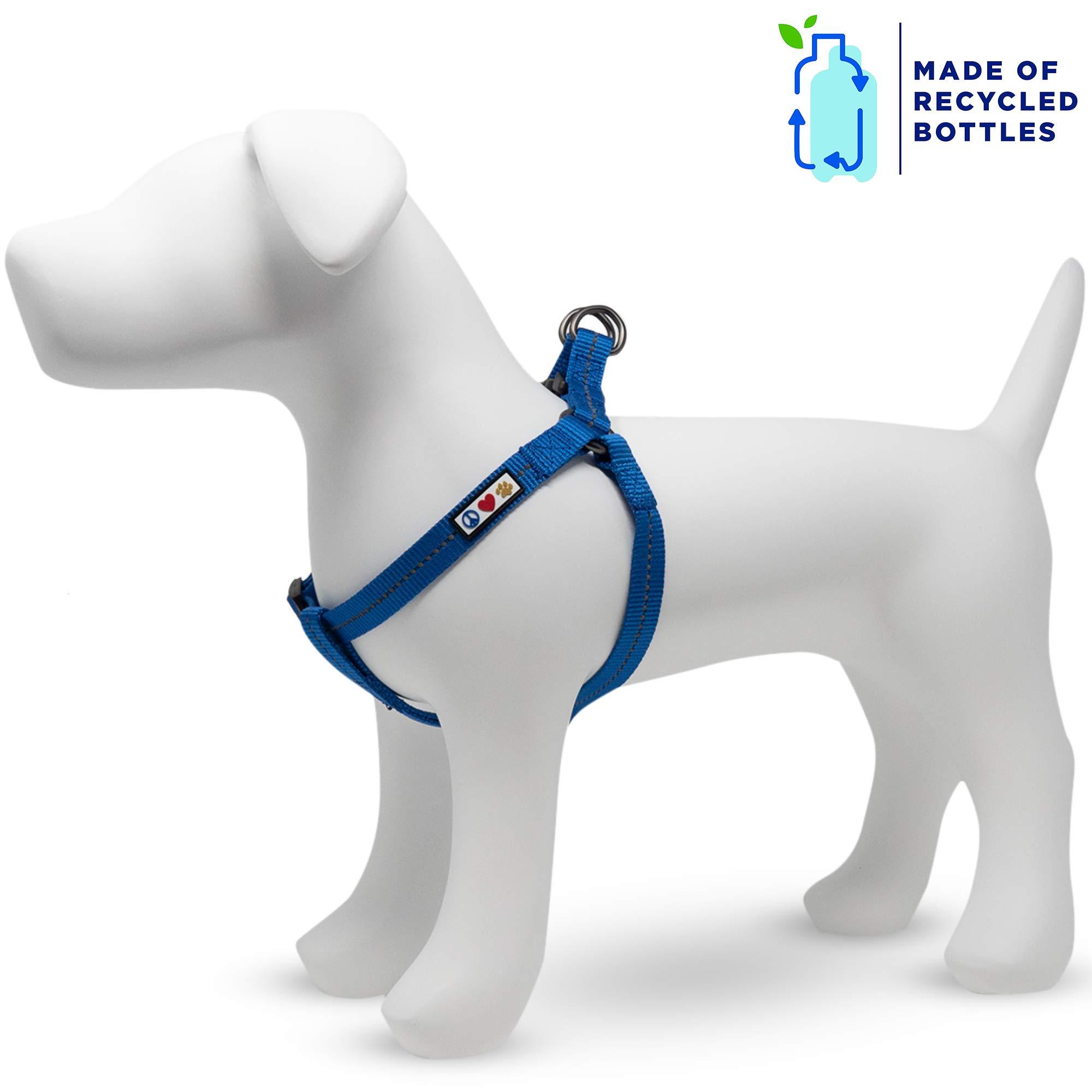 Pawtitas Arnes para Perro Reciclado con Costura Reflectante   Arnes para Cachorros Hecho de Botellas de plástico recogidas del Oceano - Arnes Oceano Azul Pequeño: Amazon.es: Productos para mascotas