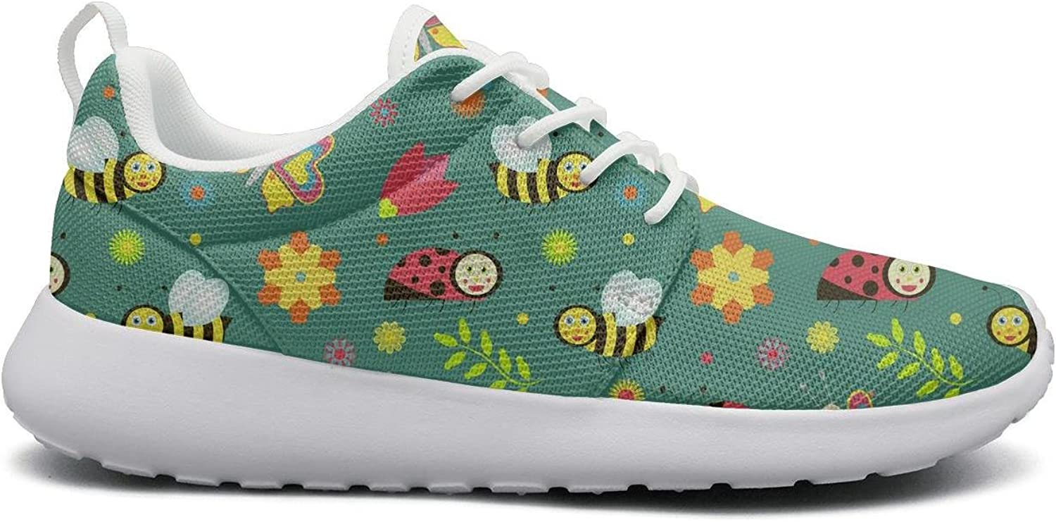 Eoyles gy Bumble bee and hive Women's Slip Resistant Lightweight Running Basketball shoes