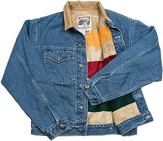 Schaefer Outfitters Denim Jacket Men Ranchwear with Fleece Blanket Lining - Indigo Size Large