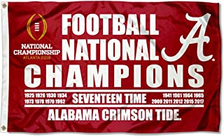 College Flags and Banners Co. Alabama Crimson Tide 17 Time National Champions Flag