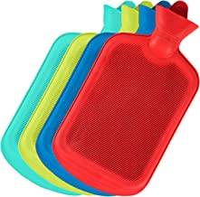 SteadMax بطری آب داغ، لاستیک طبیعی -BPA بطری داغ داغ آب گرم برای گرم فشرده و گرما، رنگ های تصادفی (1 بسته)