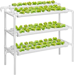 VIVOSUN Hydroponic Grow Kit, 3 Layers 90 Plant Sites 10 PVC Pipes Hydroponics Growing System with Water Pump, Pump Timer, ...