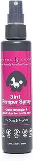 Rufus & Coco 3-in-1 Natural Pamper Spray, Detangles, shine, Deodorise, paraben Free no build up Mist, Hypoallergenic Fresh Fragrance, safe for Cat