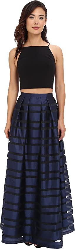 Ball Skirt w/ Illusion Panels and Stretch Halter Top