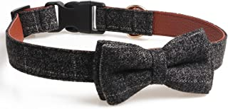 chede Soft &Comfy Bowtie Dog Collar, Detachable Adjustable Bow Tie Collar Pet Gift