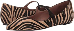 Zebra Haircalf/Black Kid Suede