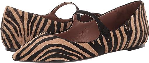 Zebra Haircalf/Black Suede