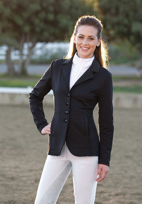 (6, Black)  ROMFH Bling Show Jacket