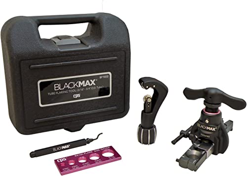 discount CPS BlackMAX BFT850K discount Lightweight R-410A Clutch-Type Ecentric Flaring Tool Kit with Flare Size Gauge, Cutter and Deburring 2021 Tool outlet online sale