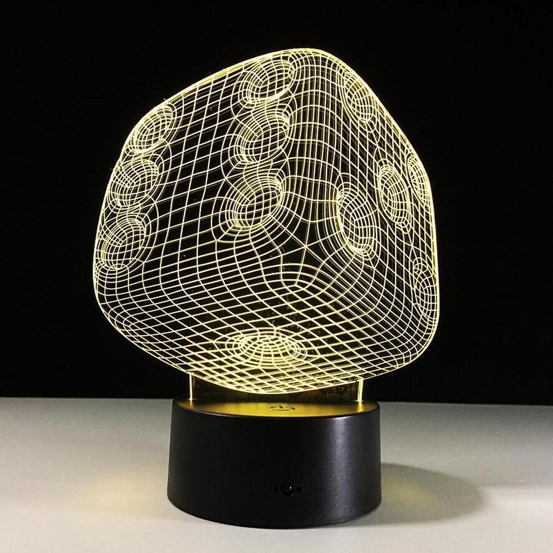 DENGS Einzigartige Form 3D Nachtlicht Blautooth Lautsprecher 5 Farben LED Illusion Kreative Produkte, Photo Farbe B078N5F552  | Fierce Kaufen