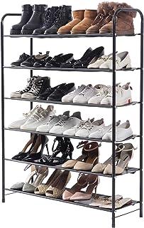 UDEAR Étagère à Chaussures à 6 Niveaux, Cadre en Fer, Meuble de Rangement Polyvalent, Peu encombrant, pour entrée, Chambr...