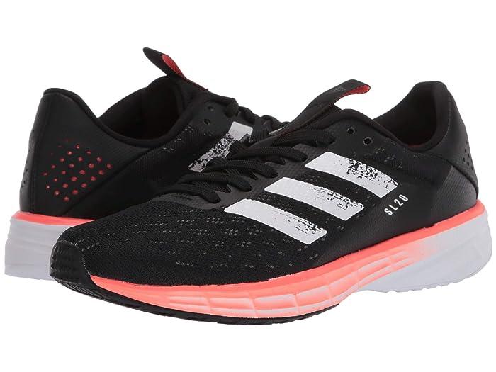 adidas Kids  SL20 (Big Kid) (Black/White/Signal Coral) Kids Shoes