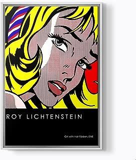 PlusCanvas - Girl with Hair Ribbon - Roy Lichtenstein - 30 x 45cm (12