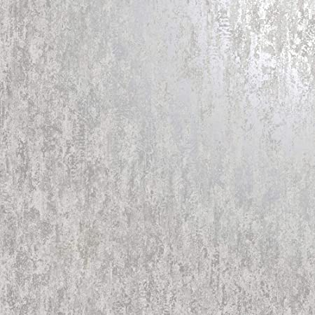 Industrial Textured Metallic Wallpaper Grey Silver Stone Concrete YöL