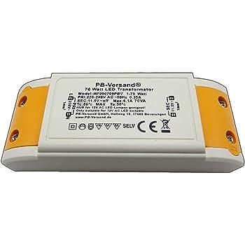 deleyCON 12V LED Bloc dalimentation Transfo Slim 0-6W 200-240V /à 12V DC LED Lampes Bandes Lumineuses G4 MR11 MR16 /Éclairages Protection Contre la Surcharge la Surchauffe Les Court-Circuits