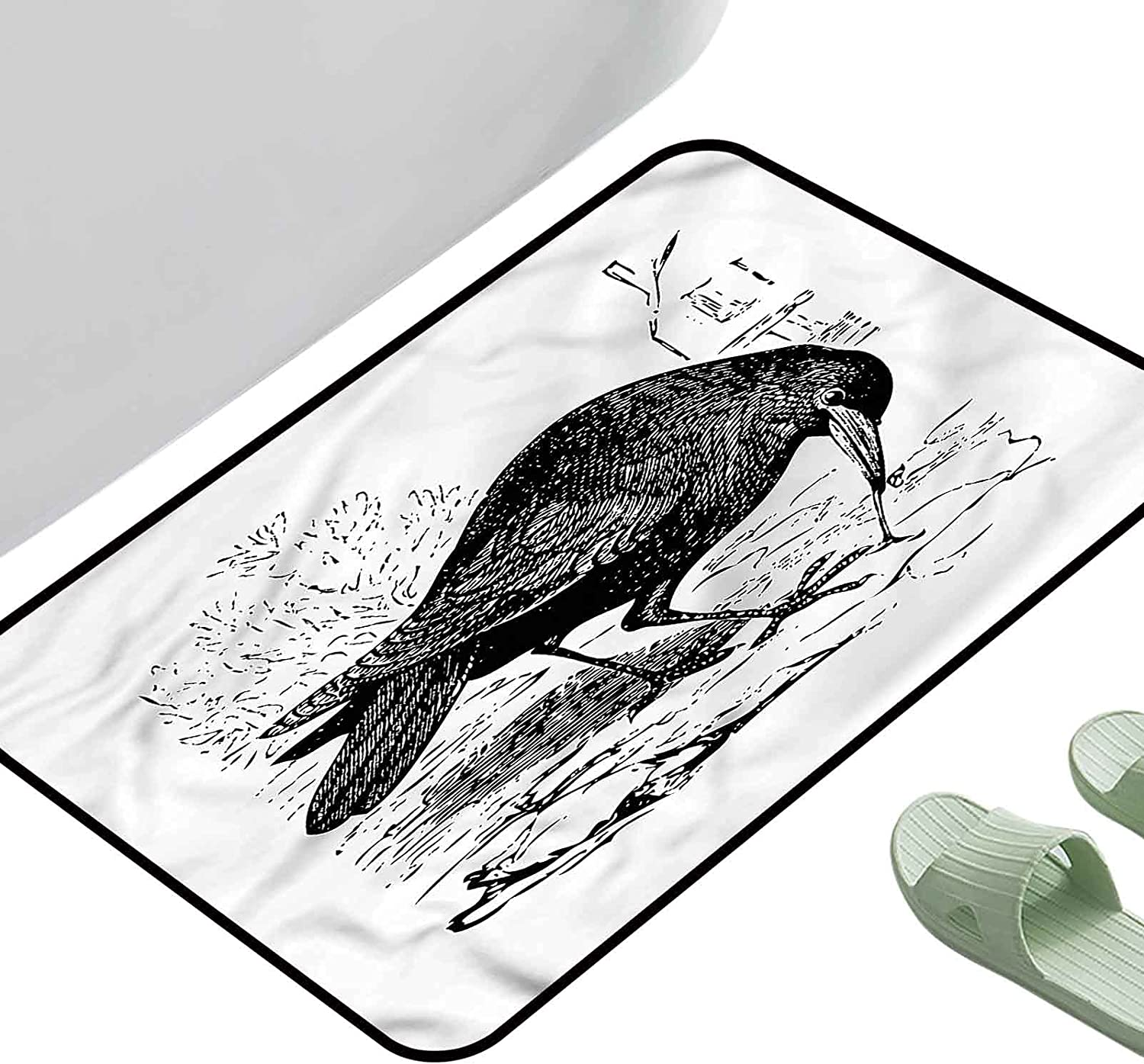 Floor Mats Modern Challenge the lowest price of Japan New Shipping Free Shipping Kitchen Rug Raven Design Figure Sketch 35 Bird