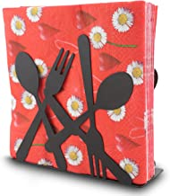Finex 餐巾架 大型 纸餐厅金属派对用具 - 黑色或红色 Napkin Holder (Black) SF278A