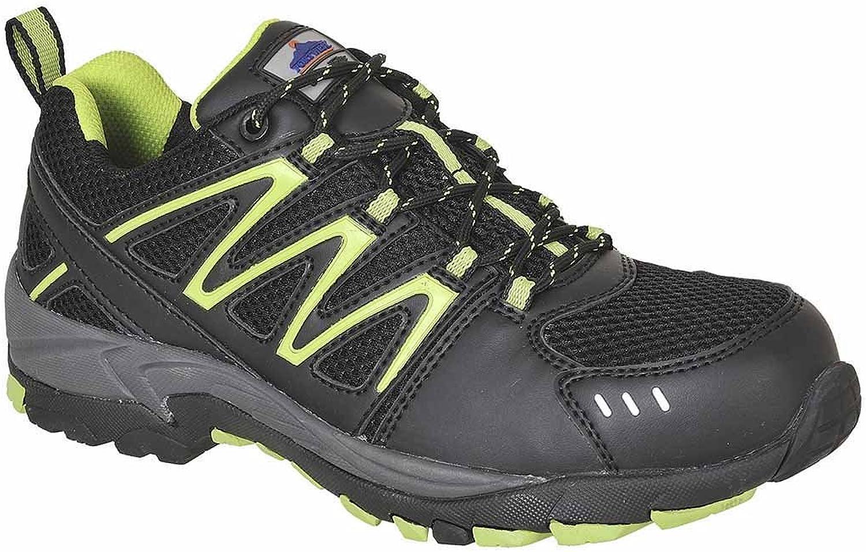 SUw - Compositelite Vistula Workwear Safety Trainer shoes S1P HRO - Black Lime - UK 9
