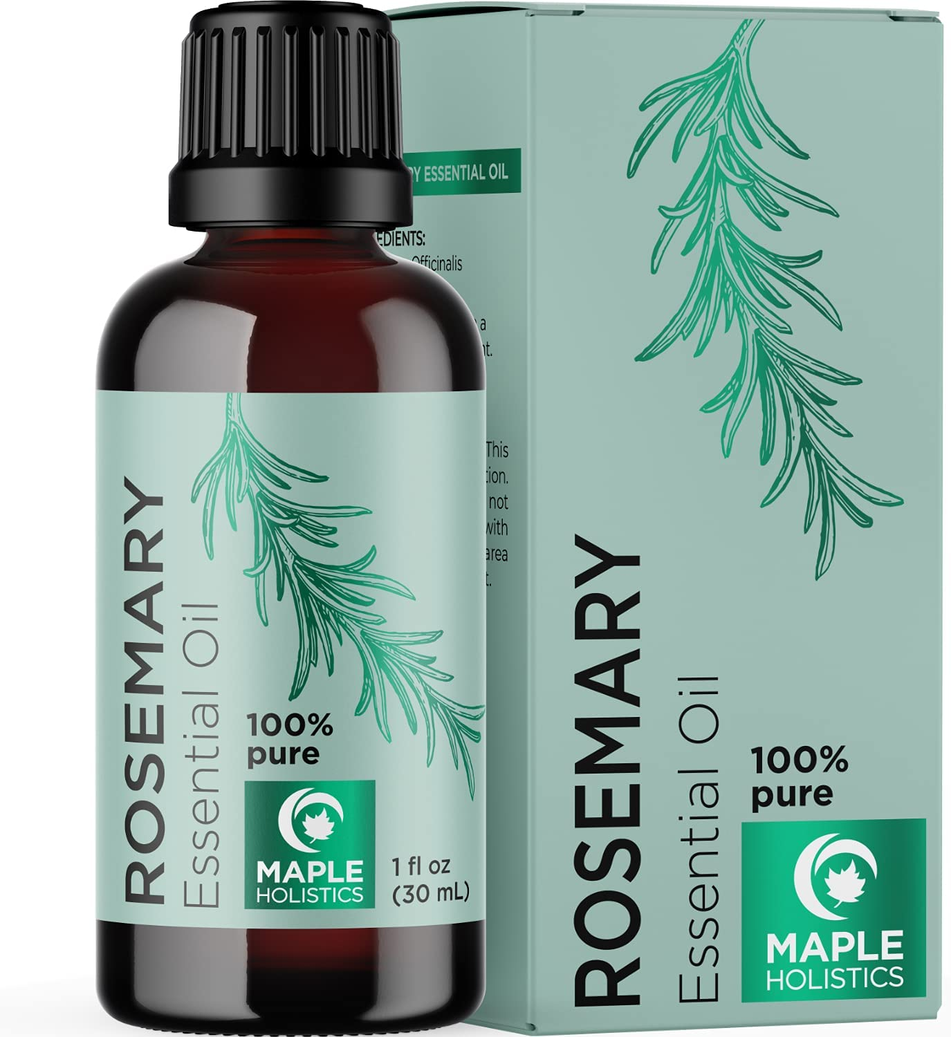 Rosemary Essential Oils Therapeutic Grade - Pure Rosemary Oil for Hair Skin and Nails - Rosemary Essential Oil for Humidifier and Rosemary Hair Oil for Dry Scalp with 100% Pure Essential Oils