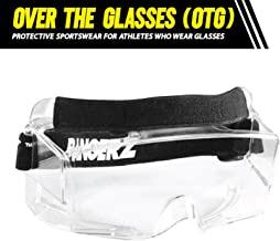 Bangerz HS-OTG Googles Protective Eyeguard, Anti-Fog Over the Glasses Safety Goggles for High Impact Sports - Basketball, Lacrosse, Floor Hockey, Racquetball | Crystal Clear with Wide Vision
