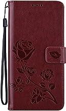 Miagon Wallet Cover per Samsung Galaxy A32 5G,Rose Fiore Silicone Custodia in Pelle Custodia Portafoglio Porta Carte e Fun...