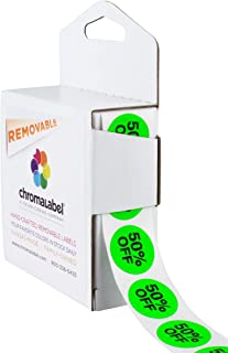 ChromaLabel 3/4 inch Round Store Labels | 500/Dispenser Box (50% Off)