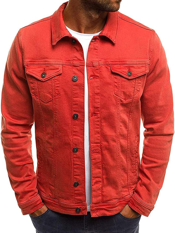 Mens Slim Fit Popular shop is the Memphis Mall lowest price challenge Casual Denim Colour Jacket Solid Lape