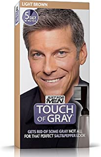 Touch of Gray Men's Hair Color, Light Brown (Pack of 4)