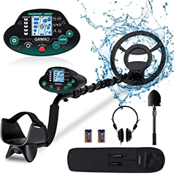 OMMO Metal Detector for Adults, Waterproof Metal Finder Detector Outdoor, High Accuracy Adjustable with Pinpoint & Disc & All Metal Mode, for Detecting Gold, Coin, Treasure Hunting
